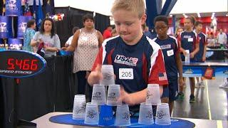 Fast and furious: Competitive cup stacking