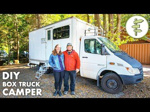 2 Years Living in a Box Truck Tiny Home Conversion - Tour & Interview