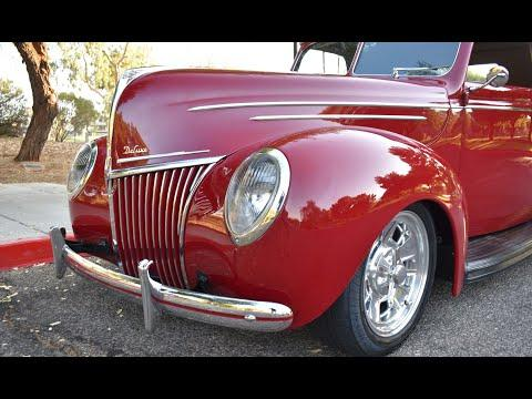 1939 Ford Deluxe Cabriolet - All Steel - Stunning Resto-Rod #Video