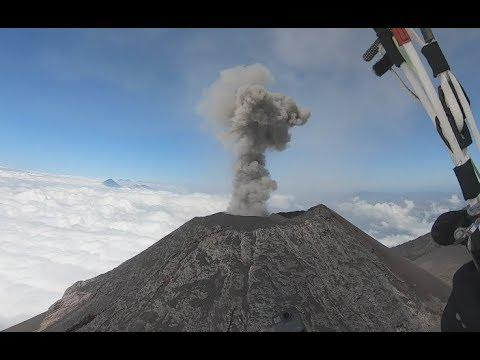Gliding Over An Active Volcano - Your Daily Dose Of Internet