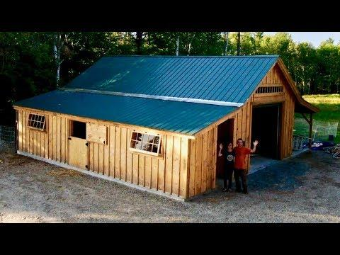 TIMELAPSE VIDEO - Post & Beam Barn Kit Build that we BOUGHT off the INTERNET