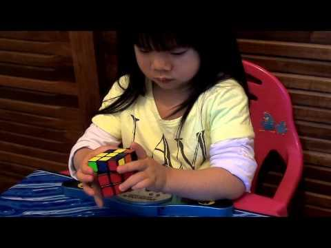 2 Year Old Solves Rubiks Cube In 70 Seconds.
