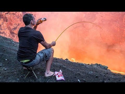 Daredevil Roasts Marshmallows Over A Volcano