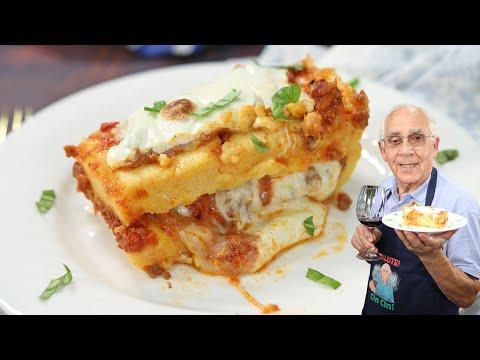 Cheesy Polenta Lasagna with Meat Sauce Video