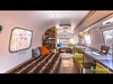 Man Turns 70s Airstream Into A Cool, Happy Home