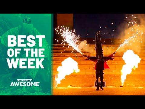 Pyro Acrobats, Ski Flips, Ninja Course & More | Best of the Week