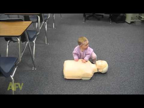 Adorable Baby Demonstrates How To Do CPR