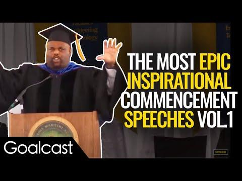 The BEST Commencement Speeches To Get You PUMPED For Life | Top 5 Speeches | Goalcast