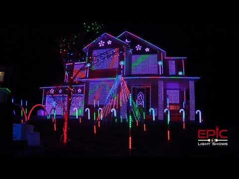 Trista Lights Epic 2020 Christmas Light Show Video