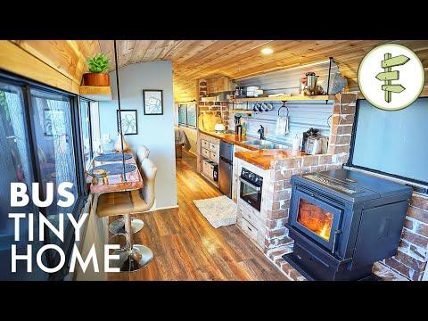 1975 Passenger Bus Converted into a Stunning Tiny Home with a View - FULL TOUR #Video