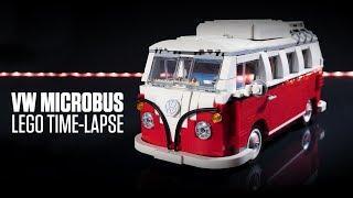 LEGO Volkswagen T1 Camper Van 10220 Time-lapse Build