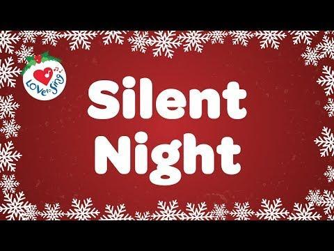 Silent Night with Lyrics Video   Christmas Carol
