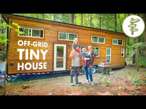 Family Living in Off-Grid Tiny House to Save Money & Work Less Video