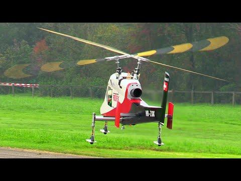 RC Scale Airplanes - Two Giant Rc Kaman K-Max 1200 Rotex
