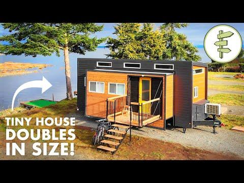 Incredible EXPANDING TINY HOUSE with Transforming Furniture & Modern Design