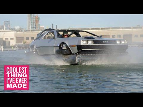 Homemade Delorean Hovercraft Video - COOLEST THING I'VE EVER MADE