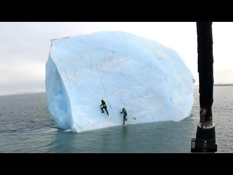 Giant Iceberg Almost Crushes 2 Men Video. Your Daily Dose of Internet