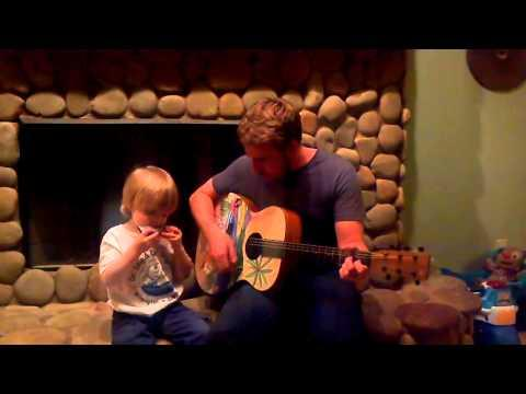 Love Me Do By A 3 Yr Old And His Dad.
