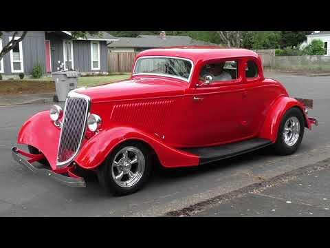 1934 Ford Video - 5W Coupe All Steel Traditional Style Hot Rod