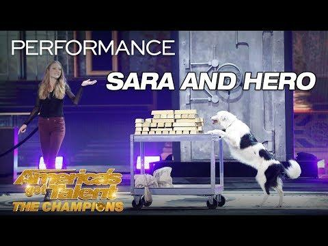 Sara and Hero: Adorable Dog And Trainer Perform Amazing Tricks - AGT: The Champions