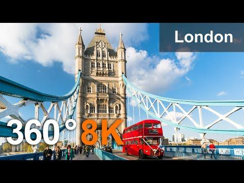 London, United Kingdom Video. Virtual travel. 360 in 8K