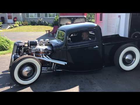 1937 Ford pickup hot rod Chevy 348 powered #Video