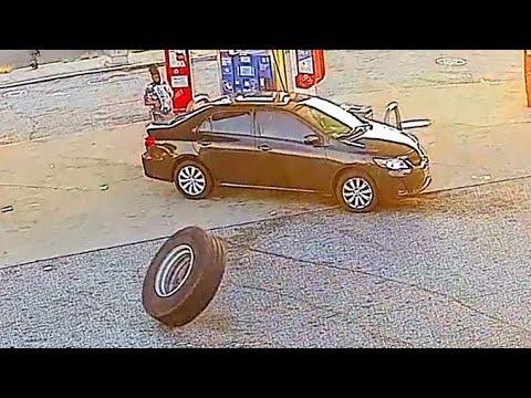 Random Tire Crashes Into Car. Your Daily Dose Of Internet Video