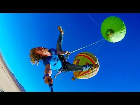 Epic Hot Air Balloon Rope Swing In 4K