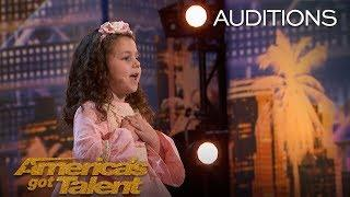 Sophie Fatu: Adorable 5-Year-Old Sings Throwback Tune - America's Got Talent 2018