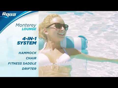 Aqua 4-in-1 Monterey Hammock Inflatable Pool Float Video