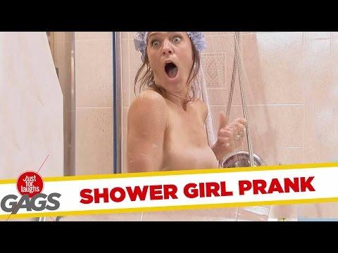 Sexy Lady Showers In Mall Prank