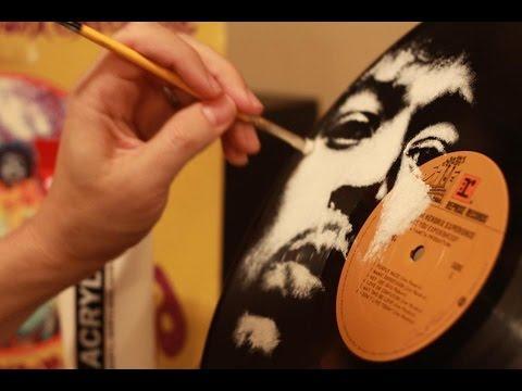 Jimi Hendrix, Vinyl Art By Daniel Edlen - A Timelapse