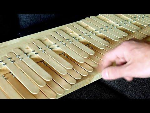 How to make a piano from popsicle sticks #video