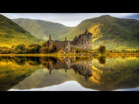 Scotland in 4K Drone Fly By - [ 35 Minutes of Soothing and Relaxing Music ]