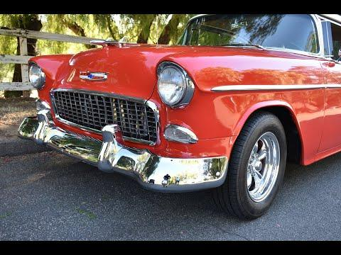 1955 Chevrolet Belair 2DR Hardtop Resto-Mod 350 Dual Quad Muncie 4-Speed Video