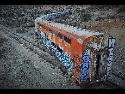 Abandoned Train Derailed and covered in graffiti