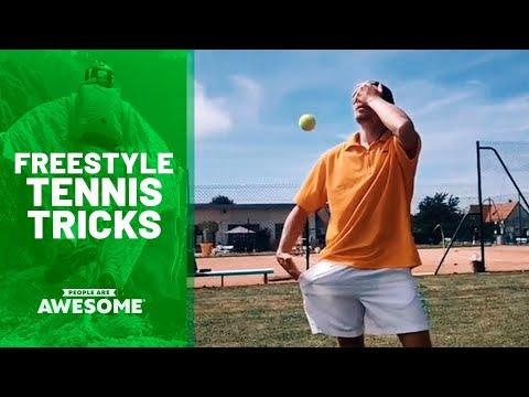 Coolest Freestyle Tennis Tricks Video | People Are Awesome