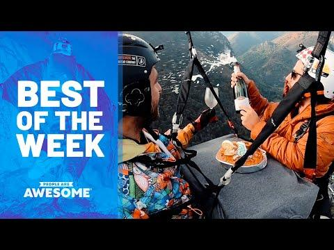 Eating Cake on Parachute, Skater Kid, Parkour & More | Best of the Week Video