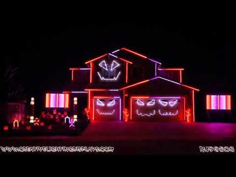Halloween Light Show 2015 - Ghostbusters (Ray Parker Jr)