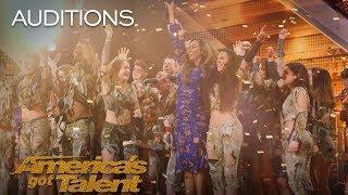 Zurcaroh: Golden Buzzer Worthy Aerial Dance Group Impresses Tyra Banks - America's Got Talent 2018