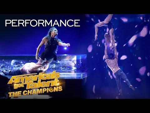 Duo Destiny Delivers Sexy Acrobatics And UNBELIEVABLE Aerial - America's Got Talent: The Champions