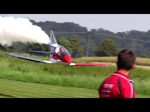 RC Scale Airplanes - Giant BD-5J - Extreme Low And Fast With Afterburner