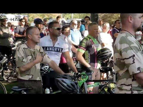 Community And Veterans Bike Together On The Road To Recovery