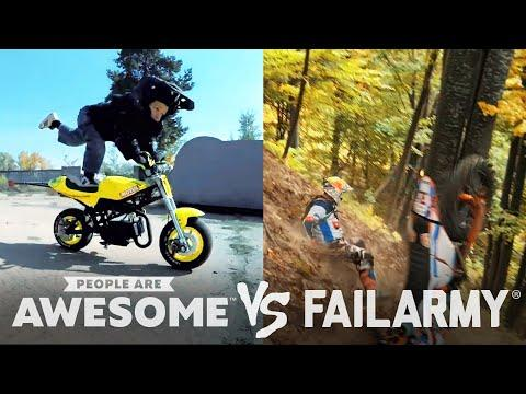 Dirtbiking, Pole Vaulting Video, & Parkour Wins & Fails! | People Are Awesome VS. FailArmy