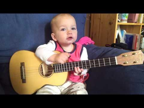 Baby Singing and Playing Ukulele Video