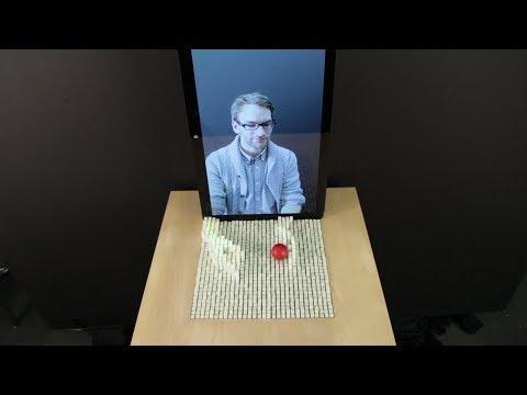 Interacting With a Dynamic Shape Display Video