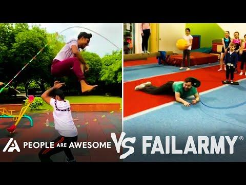 Amazing Jump Rope Wins Vs. Fails & More! | People Are Awesome Vs. FailArmy #Video