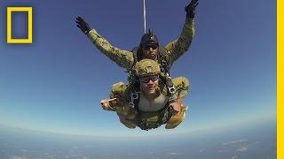 Hero War Dog Skydives with Soldier | National Geographic