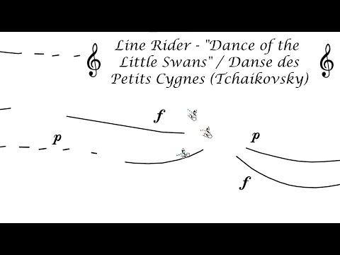 Line Rider - Dance of the Little Swans Video/Danse des Petits Cygnes (Tchaikovsky)