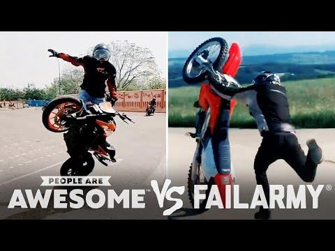 Motorcycle Wheelies & More Wins VS. Fails | PAA Vs. FailArmy Video